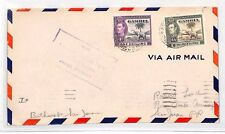 BH16 1942 WW2 GAMBIA 2s/6d High Value Airmail Cover Puerto Rico ELEPHANT PALM