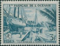 French Oceania 1956 SG215 3f turquoise Economic and Social Development Fund MLH