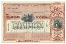 Louisville Railway Company Stock Certificate