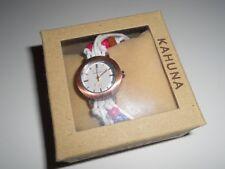 Kahuna Ladies Womens Bead Bracelet Toggle Strap watch white strap pink beads