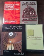 (LOT OF 4) ORGANIZATIONAL THEORY, DESIGN, STRUCTURING, STRATEGY- (2) MINTZBERG,