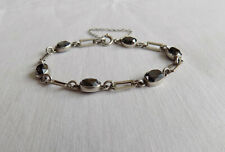 "with stones 6.5"" long Beautiful Silver 925 Bracelet"