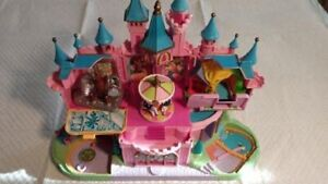 Disney Polly Pocket Magic Kingdom Castle Playset With 5 Separate Attachments.