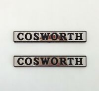 ⭐🇫🇷 NEUF x2 MONOGRAMMES COSWORTH AILES FORD SIERRA RS 4x4 SAPPHIRE LOGO BADGE