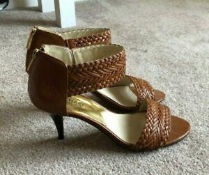 Michael Kors Boho Open Toe Braided Ankle Strap Heels - Size 8.5M