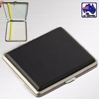 Cigarette Box Cigar Tobacco Case Stainless Steel+PU for 20 Cigarettes TCIB66520