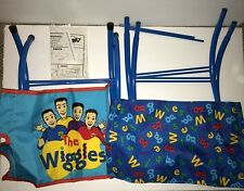 The WIGGLES Childs Directors Chair Seat Blue Folding UNUSED Damaged Box