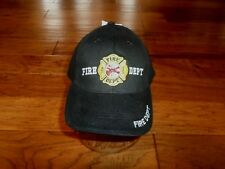 FIRE DEPARTMENT BALL CAP HAT EMBROIDERED 100% COTTON ADJUSTABLE ONE SIZE FITS