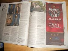 VOICE heaven & hell w/Special Guests COHEED AND CAMBRIA AD In Newspaper MSG 2009