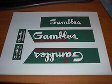TONKA TRUCK DECAL SET OF THE GAMBLES SEMI TRUCK