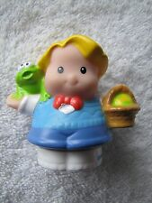 New Fisher Price Little People EDDIE w/ EASTER EGG BASKET of EGGS Spring Holiday