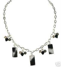 Bracelet w Faux Fur Charms Set: Wild Zebra Necklace &