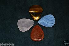 Timber Tones Crystal 4pkSet Rose Quartz,Tiger Eye,Red Sandstone, Blue Lace Agate