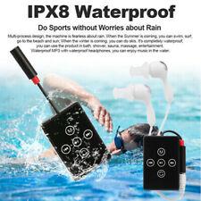 Waterproof 8Gb Sport Mp3 Music Player Fm Radio w/Headphone Clip Swimming Running