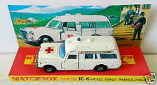 Lesney MATCHBOX Diecast SPEED KINGS K-26 BENZ BINZ AMBULANCE & K6 Custom Display