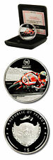 Palau Ducati -Troy Bayliss $1 2009 Proof Silver Plated Crown Case & COA