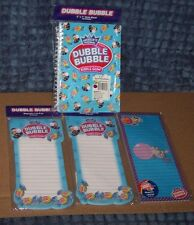 3 DUBBLE BUBBLE DECORATED MAGNETIC LINED NOTE PADS & ONE 5 X 7 SPIRAL NOTEBOOK