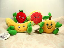 Garden Heroes Learning Zone Xpress Fruit Plush Apricot Melon Strawberry Lot of 4