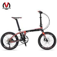 "SAVA 20 "" Bicicleta Plegable SHIMANO 9S Marco de carbono Bicicleta compacta"
