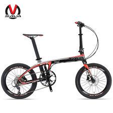 SAVA 20in Folding Bike T700 Carbon Fiber Frame SHIMANO 9 Speed Compact City Bike