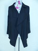 Neues Damen Shirt Bluse Zipfelbluse Gr. M/L Schwarz Langarm NEU/OVP