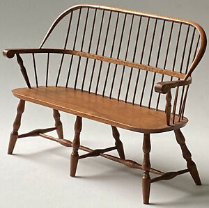 Rare Signed Artisan Dollhouse SETTEE BENCH William Clinger 1:12 Scale Miniature