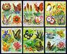 BURUNDI — SCOTT 435-440, C187-C192 — 1973 FLOWERS/BUTTERFLIES SET— MH — SCV $141