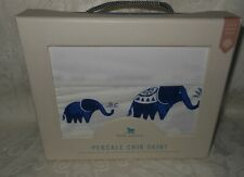 Little Unicorn Baby Boy Girl Percale Crib Skirt Indie Elephant NWT FREE SHIPPING