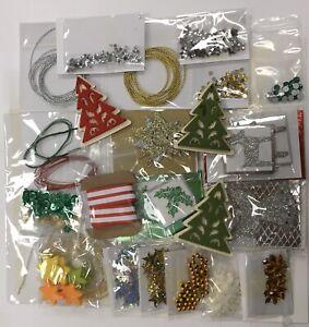 CHRISTMAS EMBELLISHMENT Variety Pack huge job lot card craft wire bead gem 700+