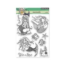 MERMAIDS-Penny Black Clear Acrylic Stamps-Stamping Craft-Mo Manning-Cardmaking