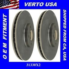 Verto USA Set Of 2 Front Brake Rotors, Fit Nissan, Infiniti 31330x2