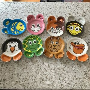 Hefty Zoo Pals Animal Plates Set Lot of 18 Open Package 8 Different Animals RARE
