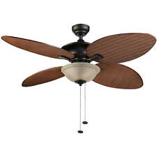 52 Inch Sunset Key Tropical Ceiling Fan Outdoor Indoor Quiet Reversible Bronze
