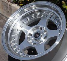 15X9 +0 Rota Kyusha Silver 4X114.3 Wheels Fit Corolla Ae86 240Sx Hellafail 4X4.5