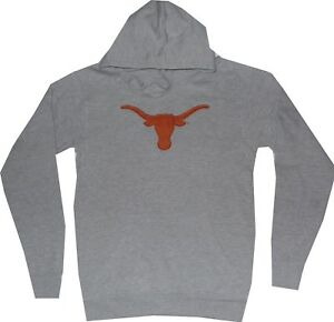 Texas Longhorns Logo Majestic Gray Hooded Sweatshirt Mens Closeout $55
