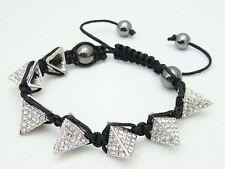 Unbranded Crystal Mixed Metals Adjustable Costume Bracelets