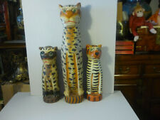 Holzkatzen deko 3-mal