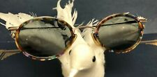New Vintage Multi Color Tortoise CHEROKEE Sunglasses Gunmetal Free Case Included