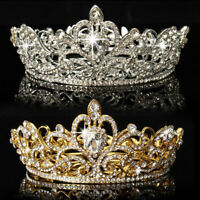 Lady Shiny Rhinestone Round Crown Tiara Wedding Pageant Bridal Headpiece Seraphi