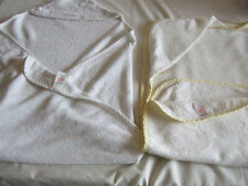 Two Mothercare Baby Bath Towels In Lemon & White