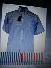 Men's Striped Short Sleeve Cotton Casual Shirts & Tops