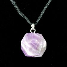 Amethyst Dodecahedron Gemstone Pendant Blank D12 Sacred Geometry Stone Necklace