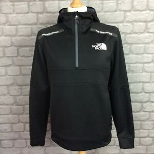 THE NORTH FACE MENS BLACK MOUNTAIN ATHLETICS 1/2 ZIP HOODIE TRACK TOP RRP £90 K
