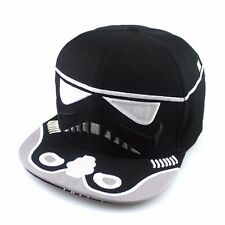 Black Boys/adult Star Wars  Storm Trooper Snapback Baseball Cap adjustable.