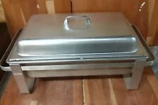 Full Size Buffet Catering Chafer Dish Set Lid Water Pan 2 half size pans Stand