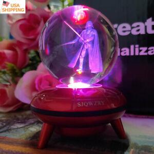 Star Wars Darth Vader LED Crystal Night Light Lamp festival Xmas Gift kid toy