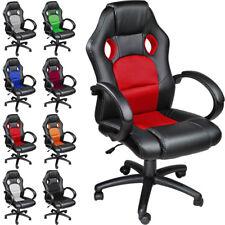 Chaise fauteuil siège de bureau racing sport tissu baquet voiture simili