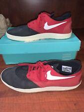 NIKE SB Mens Lunarlon Red & Black Tennis Shoes Size 9.5/ Great Shape