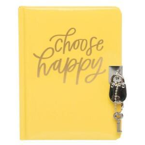 WHSmith Choose Happy Lockable Journal