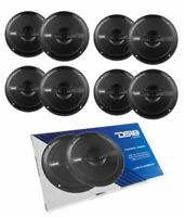"4 Pair DS18 3040W Marine Speakers Power Sports 6.5"" Waterproof Black"